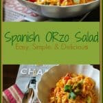 This Spanish Orzo Salad is loaded with crabmeat, green olives, and Sazon seasoning. It is simple to make and full of flavor.