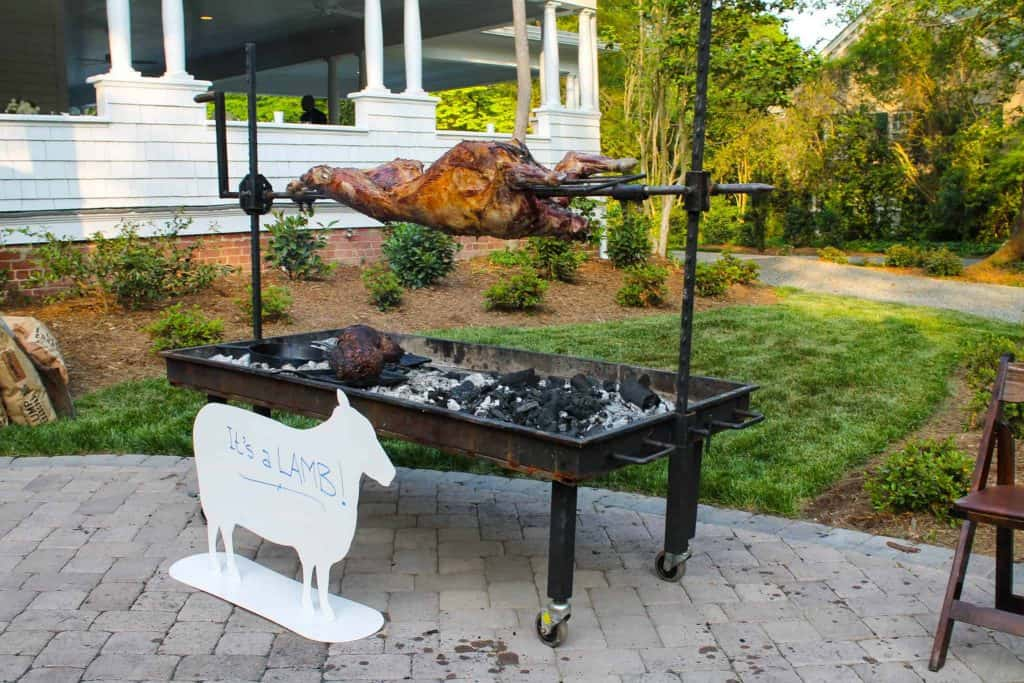 Lamb on a Rotisserie