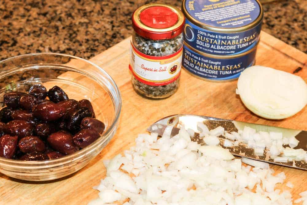 Good Quality Olives, Capers, and Tuna