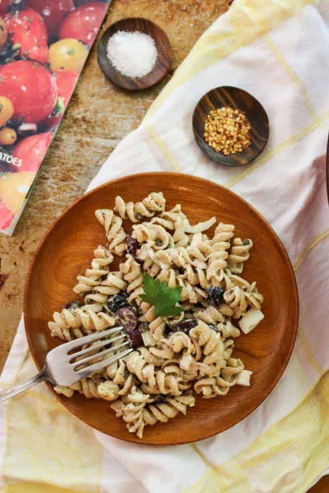 Mediterranean Tuna Pasta Salad with Capers and Olives Recipe