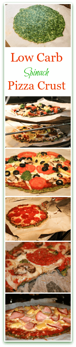 Low Carb Spinach Pizza Crust Recipe