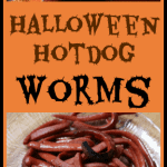 Halloween Hotdog Worms #hotdog #halloweenpartyfood #halloweenfood