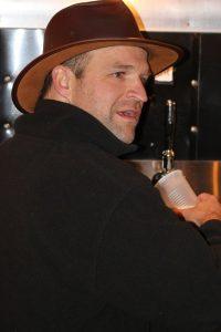 Pouring beer at Carolina Jubilee