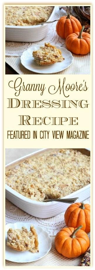 Granny Moore's Southern Cornbread Dressing Recipe #Cornbreaddressing #southerncornbreaddressing #thanksgivingdressing