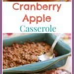 This #Cranberry #Apple #Casserole Recipe is WICKED GOOD! With a crunchy buttery top, and a tart, sweet, soft center; you will make this recipe again and again!