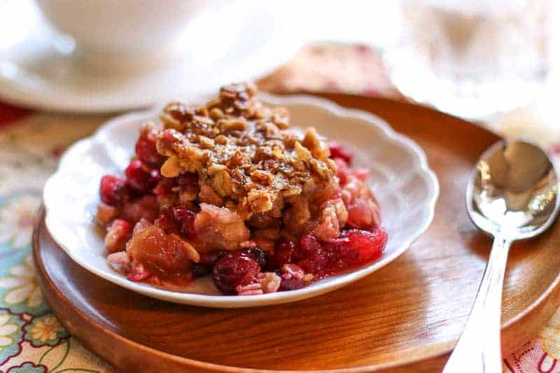 cranberry Casserole on white plate