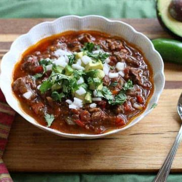 Paleo Bison, Bacon, and Pot Roast Chili Recipe