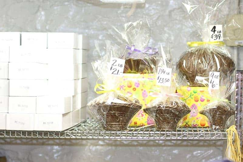 Chocolate Easter Baskets from Hughes' Home Maid Chocolates