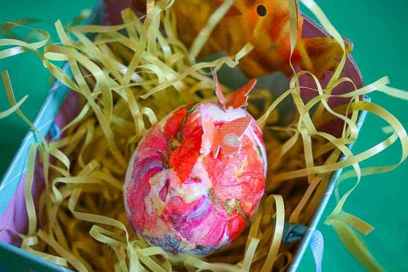 decoupaged egg