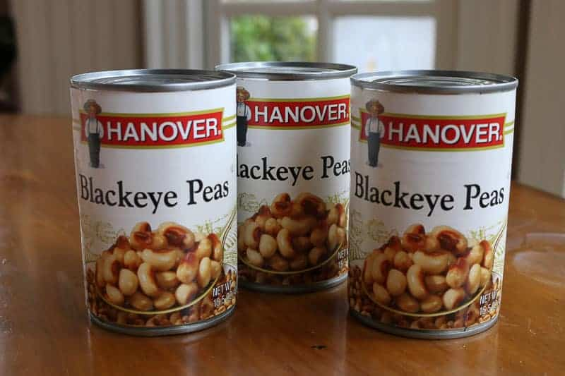 canned black eye peas
