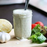 This Creamy Parmesan Salad Dressing is super easy to make and incredibly good!