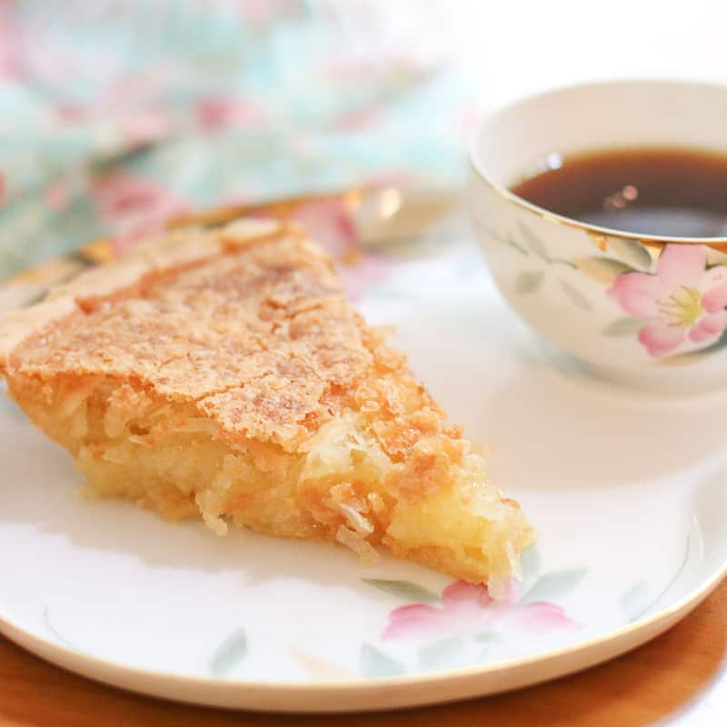 crackly French Coconut Pie