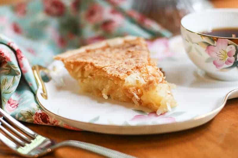 slice of homemade French Coconut Pie recipe