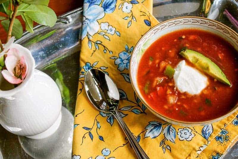 healthy Gazpacho soup recipe