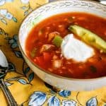 This is a lovely, fresh, healthy, homemade Gazpacho Soup Recipe!