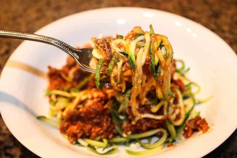 spaghetti with zucchini noodles