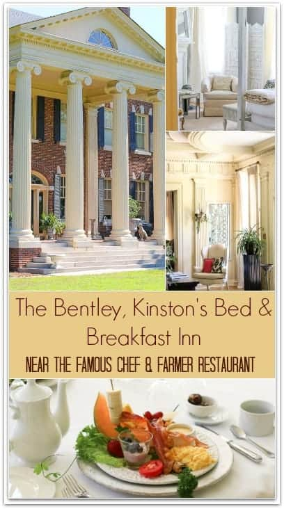 The Bentley is Kinston's finest Bed and Breakfast. The beautiful inn is full of charm and winsomeness that is matched perfectly with exceptional hospitality from it's owners, Linda and Ward. The stunning inn is also just a brisk walk away from the famous Chef and Farmer restaurant and the Mother Earth Brewery.