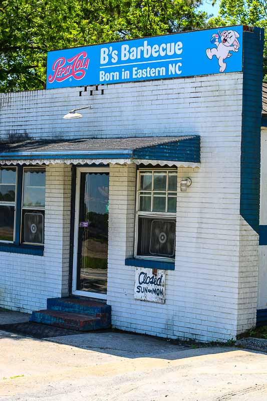 If you like dives and good Southern vinegar based barbecue, you are going to love B's Barbecue. Located in Greenville, North Carolina, B's Barbecue is a little shack serving some of the best pulled pork barbecue you will ever eat. Bring cash, be prepared to wait in a line, and get there early. They only stay open until they run out of food.