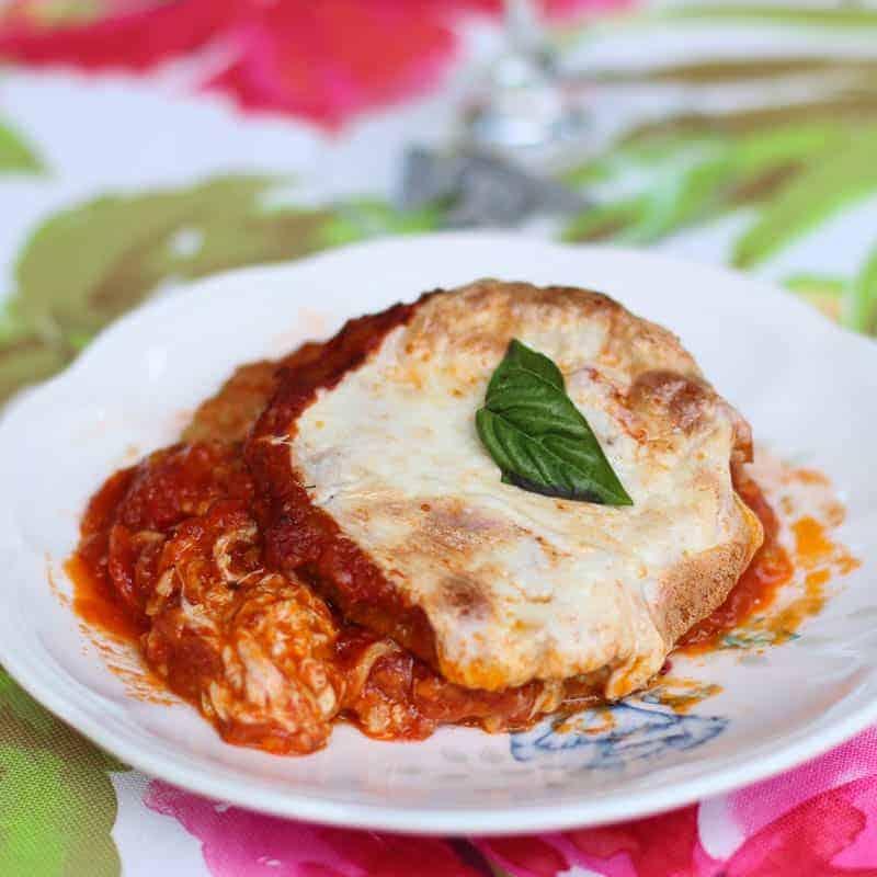 Vegetarian Eggplant Lasagna Stacks