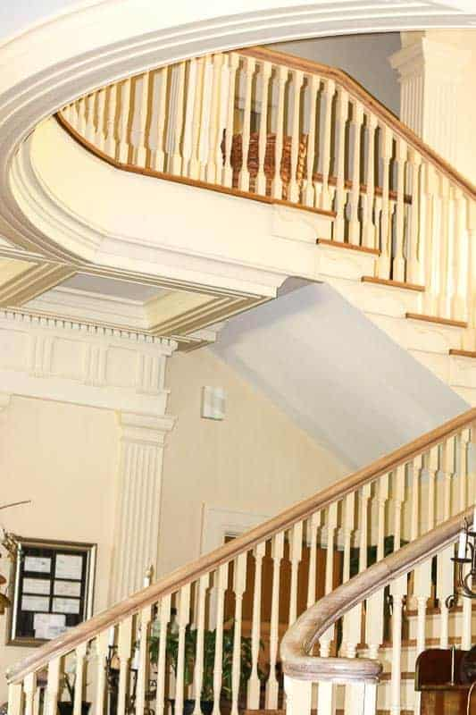 Staircase at The Bentley, Kinston's Bed and Breakfast Inn