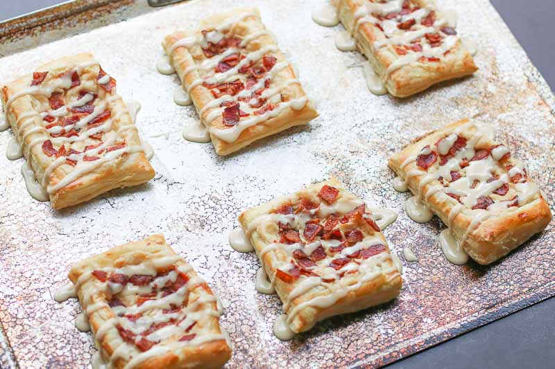 maple glazed bacon cream cheese danish #ad