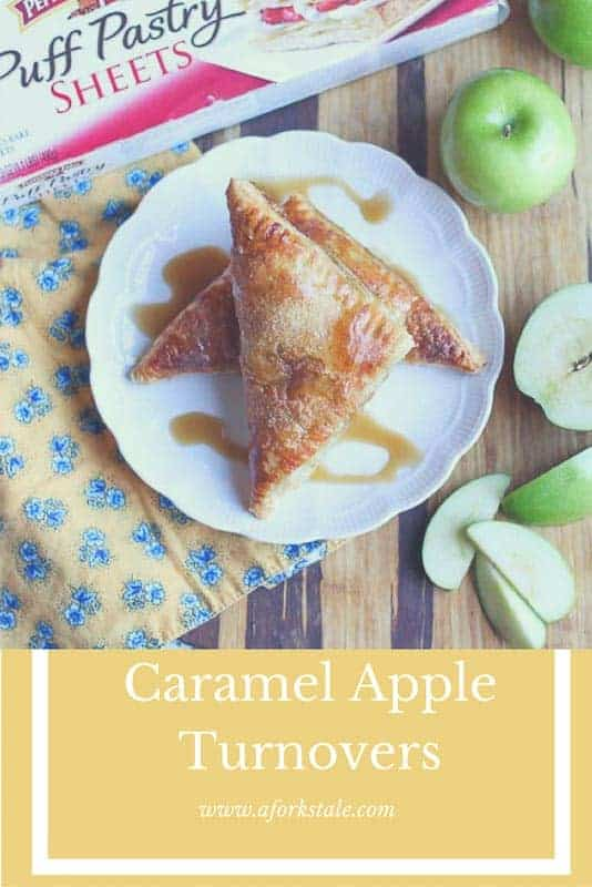 Who doesn't like caramel and apples? Add in a flaky crust and you have a sweet masterpiece! These Caramel Apple Turnovers are easy to make and absolutely delicious. They make the perfect treat to share with your friends and family. #ad