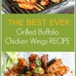 These easy grilled buffalo chicken wings are made with a spicy homemade wing sauce. They are finger licking good and will have you coming back for more again and again.