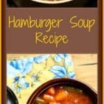 This Hamburger Soup Recipe is hearty, healthy, tasty, and super easy. This is a great recipe to for busy weeknights that will make your whole family happy.