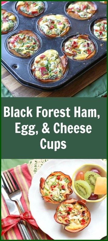 These Black Forest Ham, Cheese #eggcups are easy, simple, and perfect for entertaining. The Black Forrest Ham creates a smoky, salty, crispy crust for the creamy, cheesy egg filling.