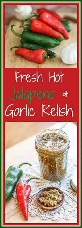 This Fresh Hot #JalapenoRelish is packed with some major heat and full of an incredible flavor. #jalapeno #garlic