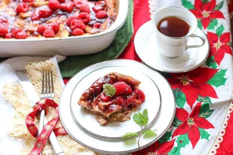 Make Ahead Raspberry French Toast