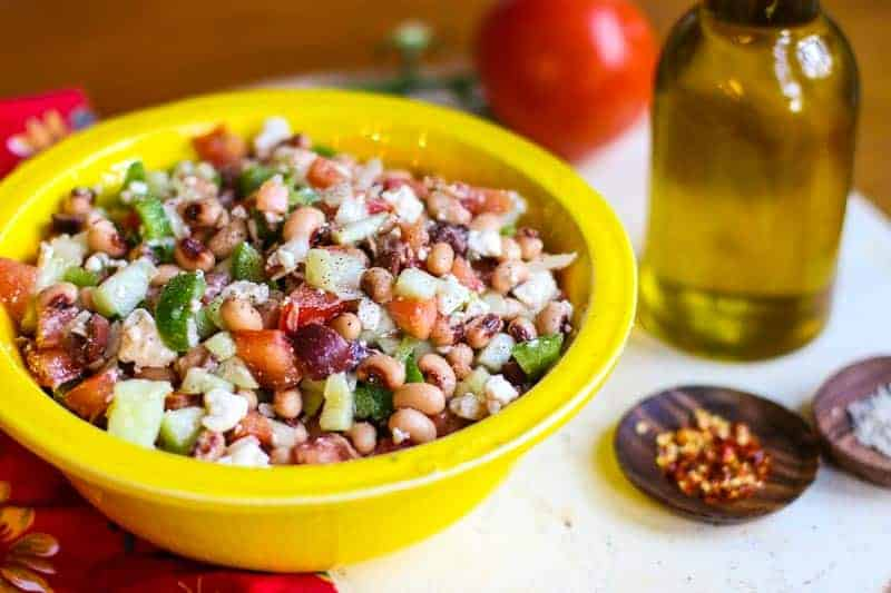 Greek Black Eyed Pea Salad-An Easy Greek Salad Recipe