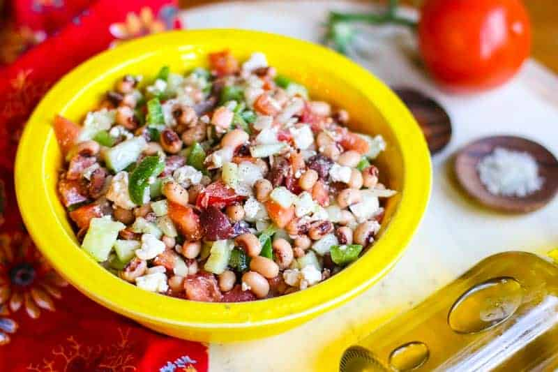 Black Eyed Pea Salad with Greek Dressing