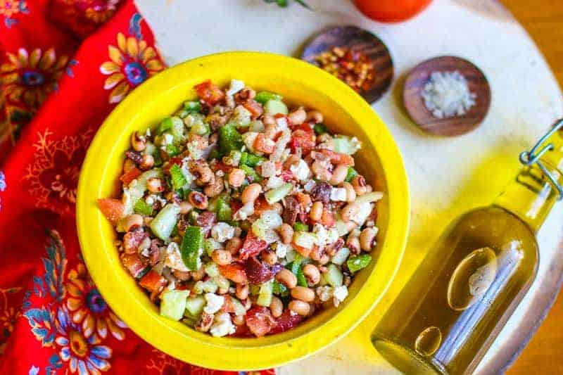 Greek Black Eyed Pea Salad