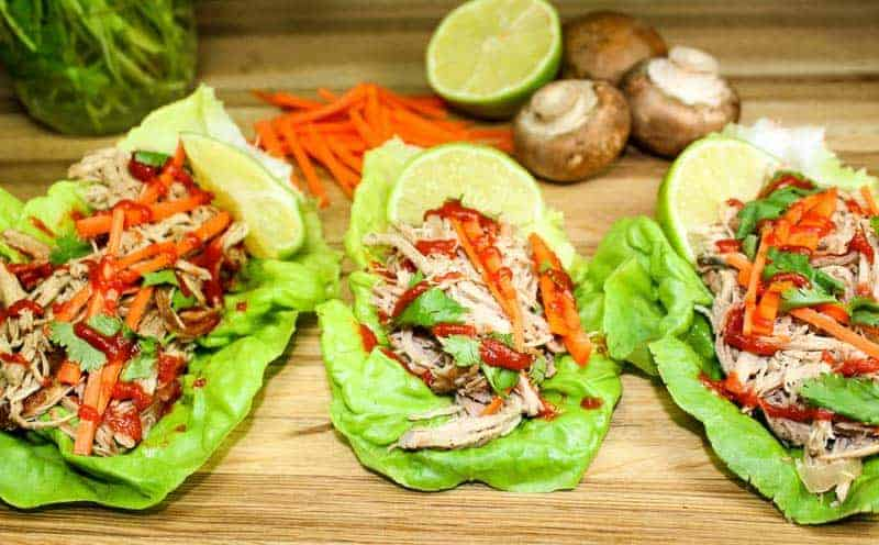 Slow Cooker Asian Pork Lettuce Wraps are the perfect meal when you want a flavorful meal, but don't want all the guilt. These wraps are packed with classic Asian flavors without the fat or carbs.