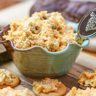 Easy Homemade Olive Pimento Cheese Spread Recipe