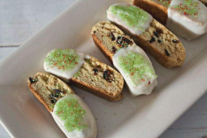 Pistachio and Fig Sesame Biscotti from Tasty Ever After
