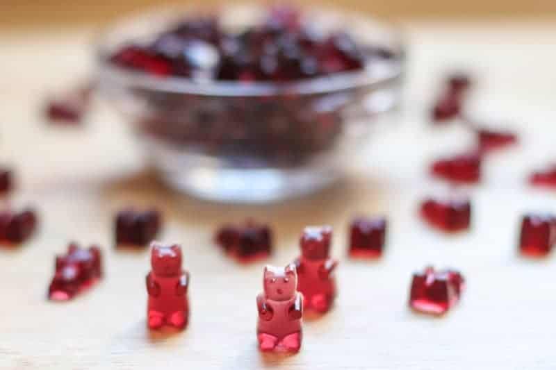 #ad Homemade Gummy Bears recipe made with Welchs 100% Grape Juice.