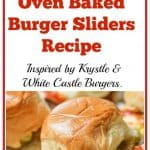 This Juicy Oven Baked Burger Sliders Recipe was inspired by the famous Krystle and White Castle Burgers. These cheesy, flavorful little burgers are easy to make in big batches and are guaranteed to disappear in minutes!