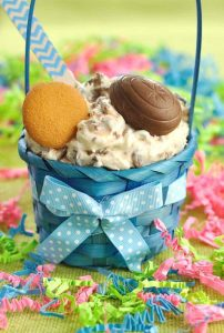 Cadbury Creme Egg Dip from Dip Recipe Creations: 5 ingredient dessert dip recipe for Easter made with Cadbury Creme Eggs. This Cadbury Creme Egg Dip will be a hit at your Easter party.