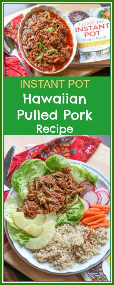 This Instant Pot Hawaiian Pulled Pork is absolutely delicious. It is perfect by itself or made into sliders, tacos, or lettuce wraps.