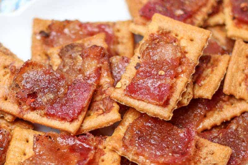Homemade bacon crackers make great tailgate food.