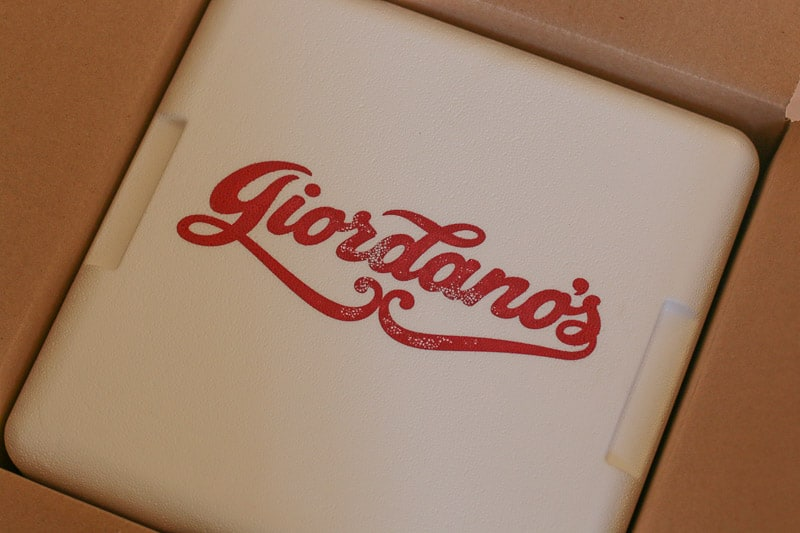 Unboxing Delivered Giordano's Famous Stuffed Pizza