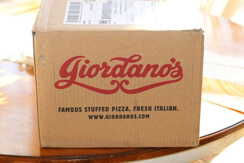 Boxed Giordano's Stuffed Deep Dish Pizza delivered to your door.