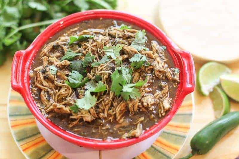15 Minute Instant Pot Salsa Verde Chicken