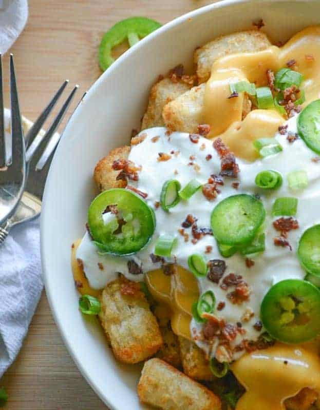 Jalapeno Popper Totchos by 4 Sons 'R' Us