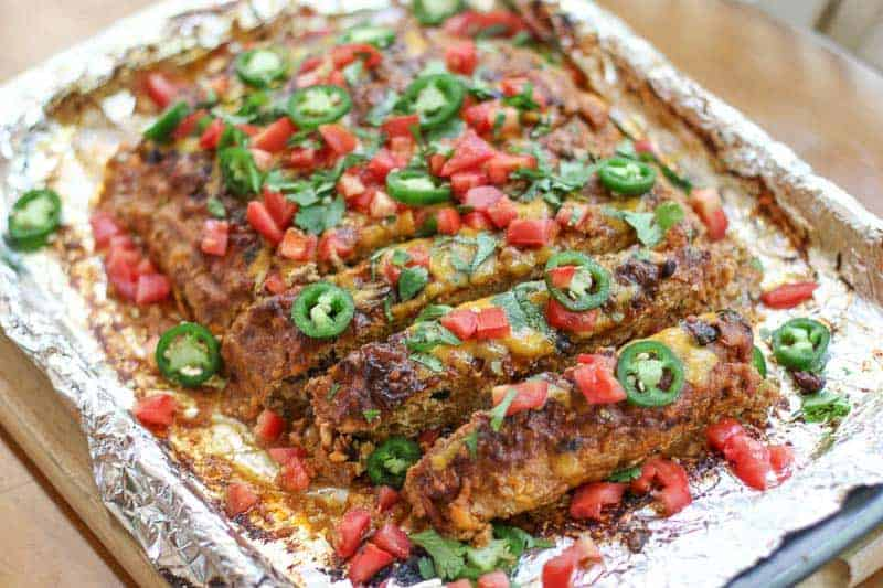 Mexican Turkey Meatloaf is filled with healthy ingredients, the incredible flavor combination will amaze you. This will become your favorite go-to meatloaf recipe!