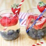These Red, White, and Blue Sangria Sparklers are a pretty show stopper perfect for Memorial Day, July 4th, and any summer time fun in the sun event! #ad