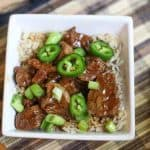 This is a delicious and easy 20 Minute Instant Pot Jalapeño Mongolian Beef recipe.