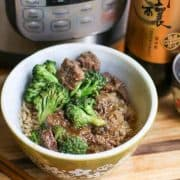 Need a family dinner idea? How about this Instant Pot Beef and Broccoli Recipe? Beef and Broccoli is a popular dish for take-out, but you can make it easy at home in your Instant Pot.  It is the perfect meal for the whole family to enjoy.